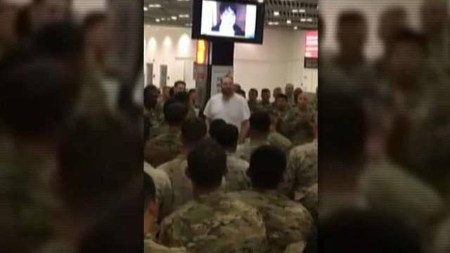 California businessman treats 400 soldiers to dinner