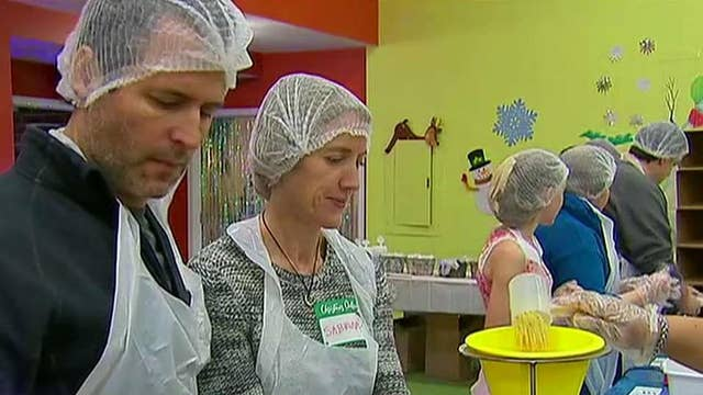 Church packs thousands of meals for families in need