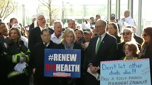 Rally held at WTC for 9/11 first responder medical benefits