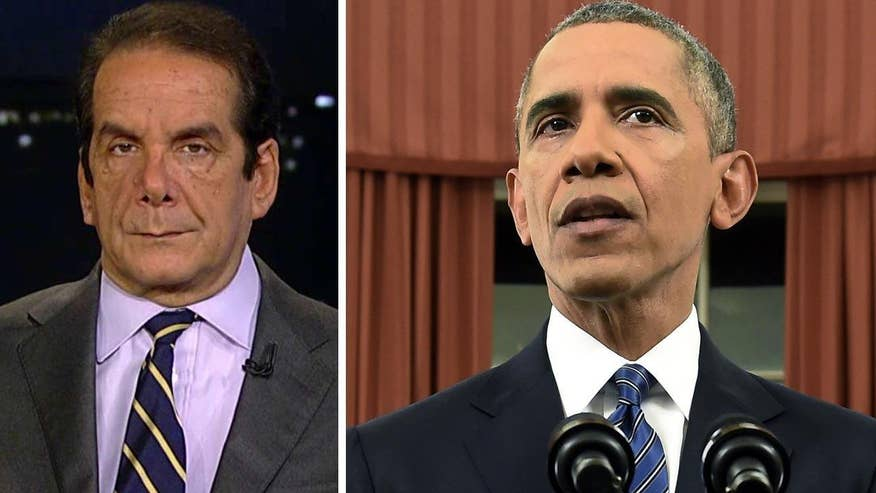 "Krauthammer said the president's mentality in confronting the terror group is ""an insane strategic view"""