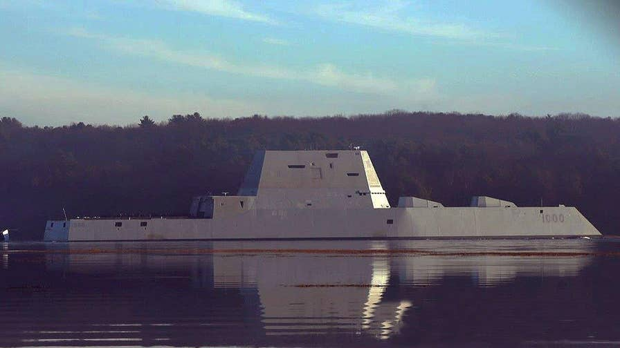 A look at the futuristic 600-foot, 15,000-ton USS Zumwalt