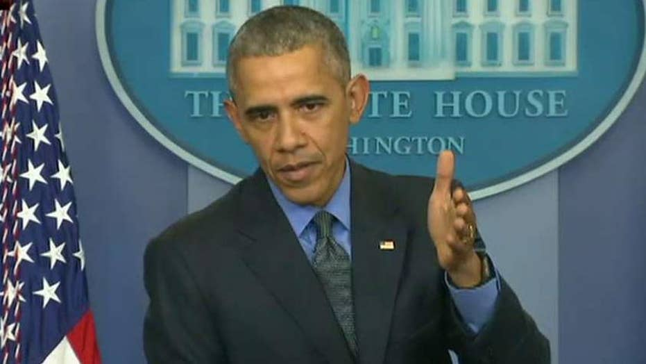 President Obama gives end of year press conference