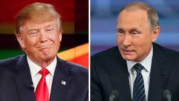 Donald Trump once again is being accused of giving Vladimir Putin a helping hand, on the heels of the Republican presidential front-runner's tough NATO criticism.