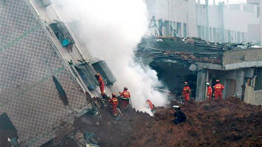 7 people rescued after two dozen buildings buried in southern Chinese city of Shenzhen