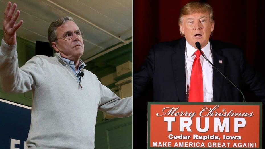 Jeb calls Trump a 'jerk,' Trump calls Jeb an 'embarrassment'