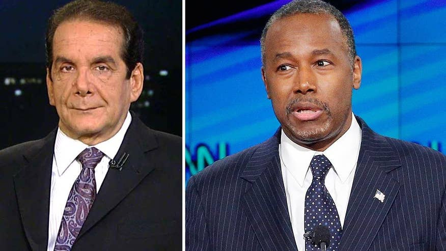 Charles Krauthammer said while Carson is making campaign personnel changes, the problem is the candidate himself.