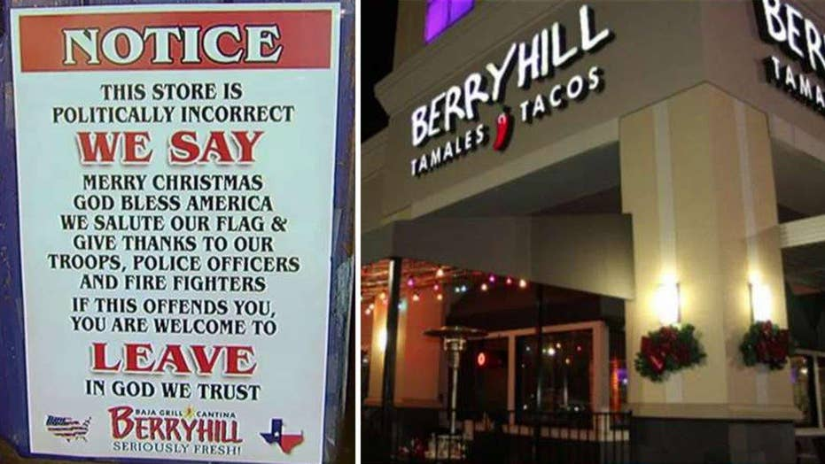 Texas restaurant chain posts 'politically incorrect' policy