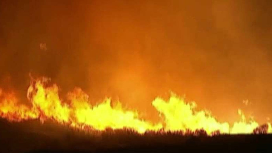 Wildfire burns over one thousand acres in California