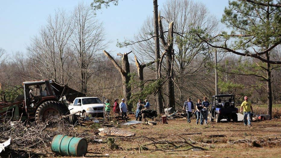 Deadly tornadoes rip through the South