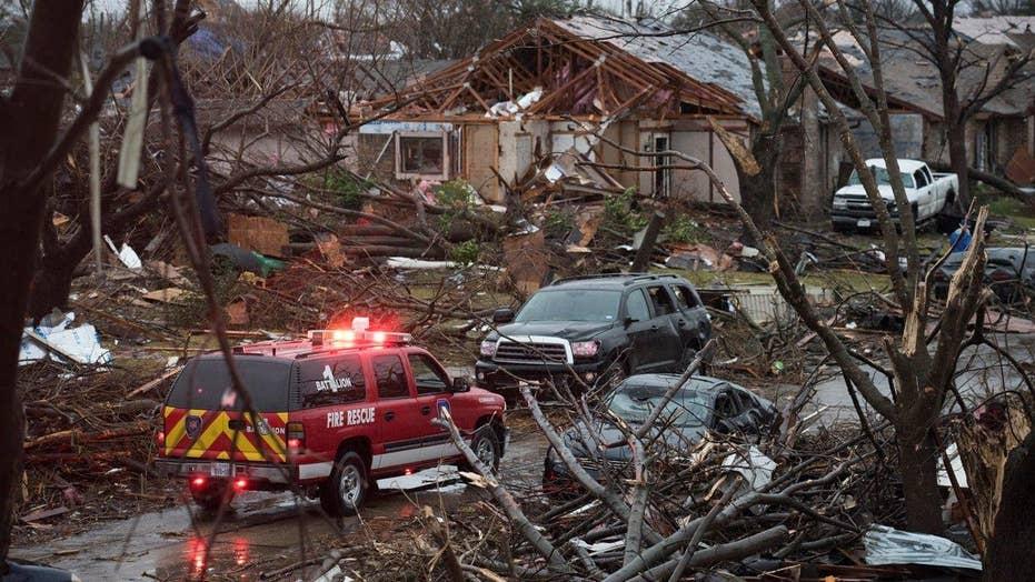 Deadly tornadoes rip through Texas, killing 11