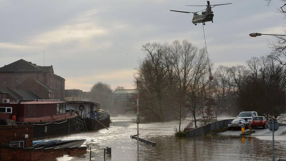 Heavy rains causing devastating floods in northern England