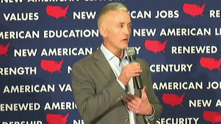 South Carolina Congressmen Trey Gowdy speaks at a campaign event for Marco Rubio