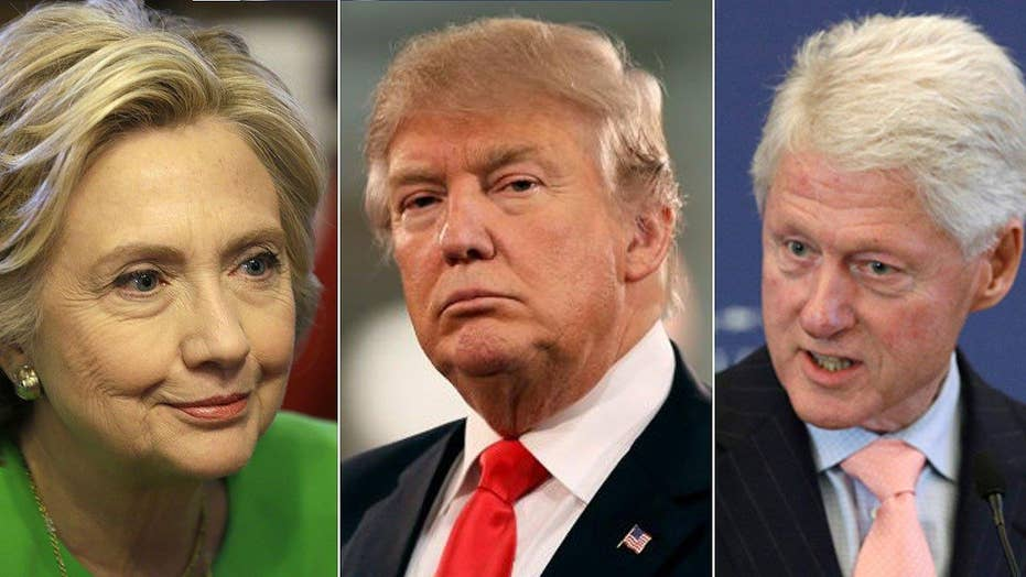 The battle between Donald trump and the Clintons escalates