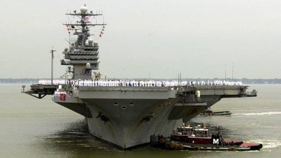 US says Iran conducted rocket tests near US war ships