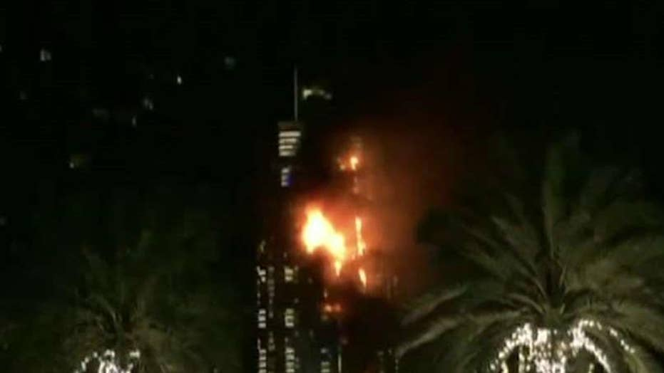 Fire engulfs Dubai hotel hours before New Year's fireworks