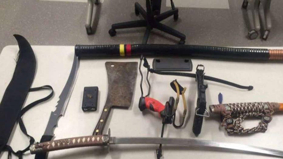 Weapons seized at Gillette Stadium