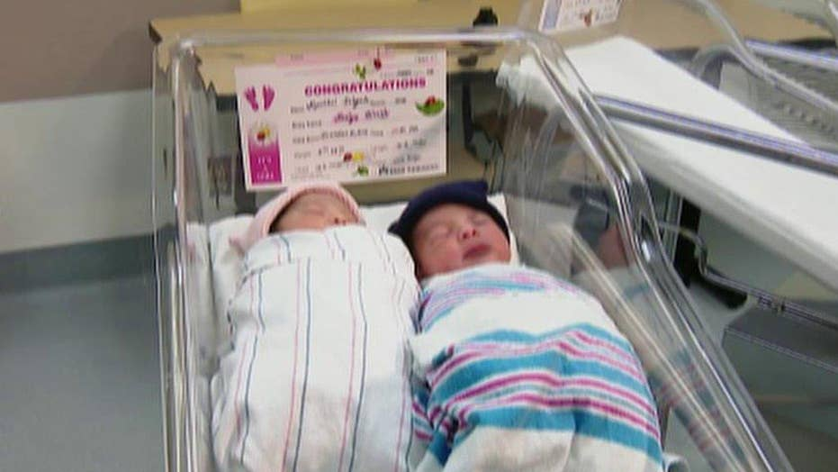 New Year's twins: One born in 2015, the other in 2016