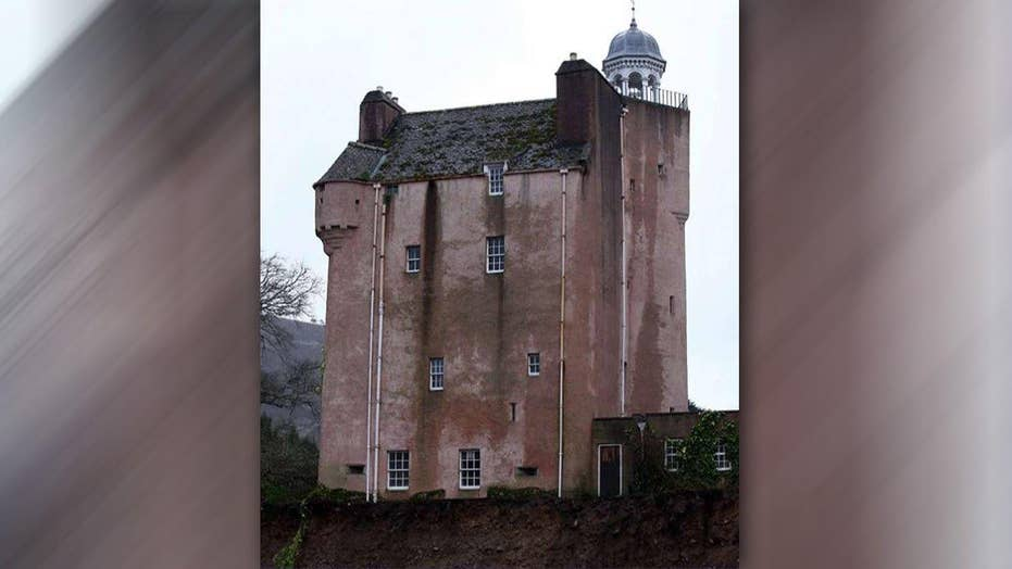 Scottish castle on brink of collapsing into river