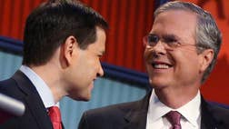 In clobbering his popular rival Marco Rubio, Jeb Bush has shown himself either incapable of bucking his SuperPAC operatives, or full of baloney.