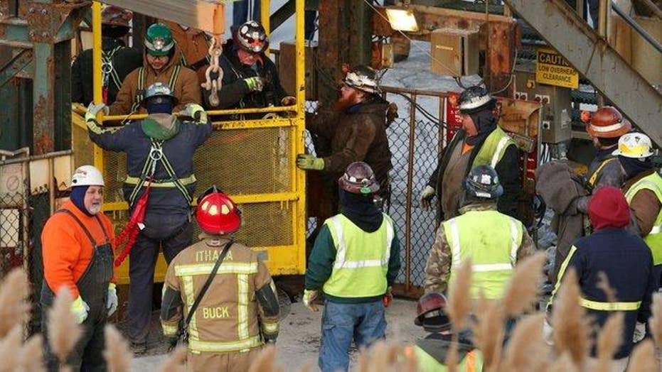 Crew rescues 17 miners trapped in New York salt mine