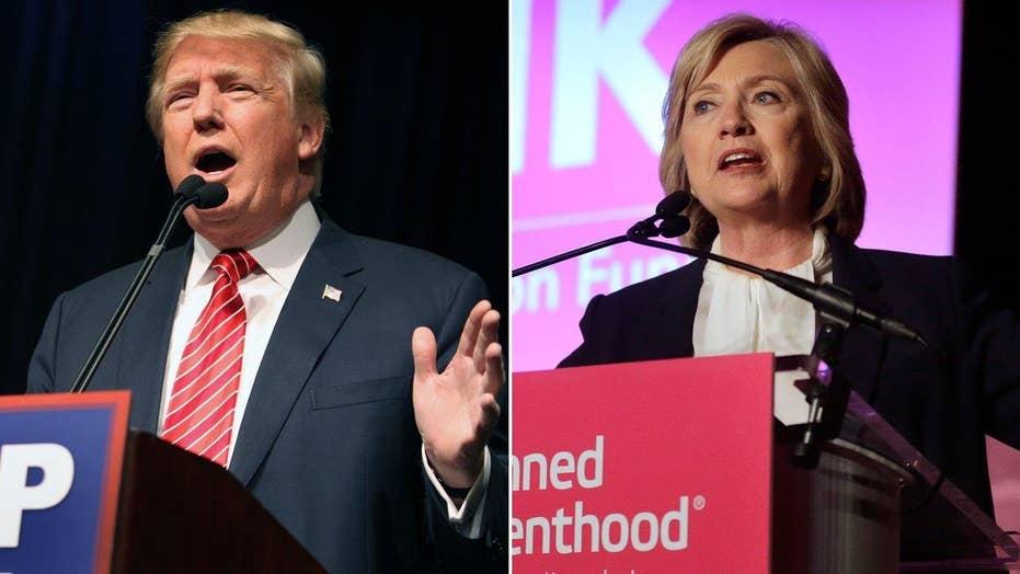 Trump overshadows Hillary