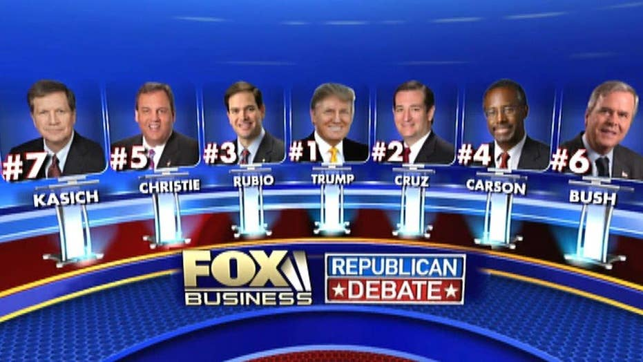 FBN GOP debate lineup revealed