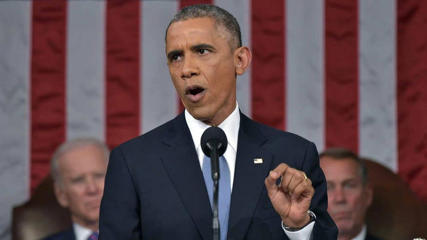 President Obama gives address against backdrop of economic and terror fears