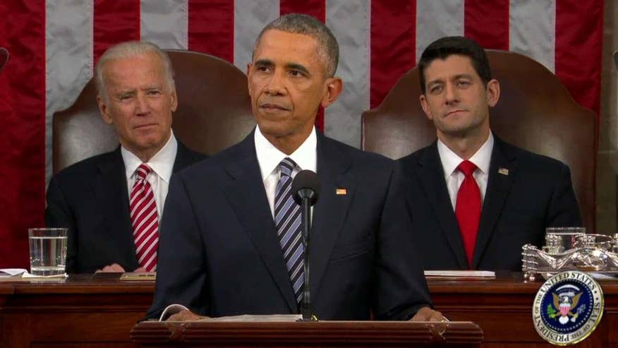 In his eighth and final State of the Union address, the president touts the strength of the U.S. economy and looks to the future