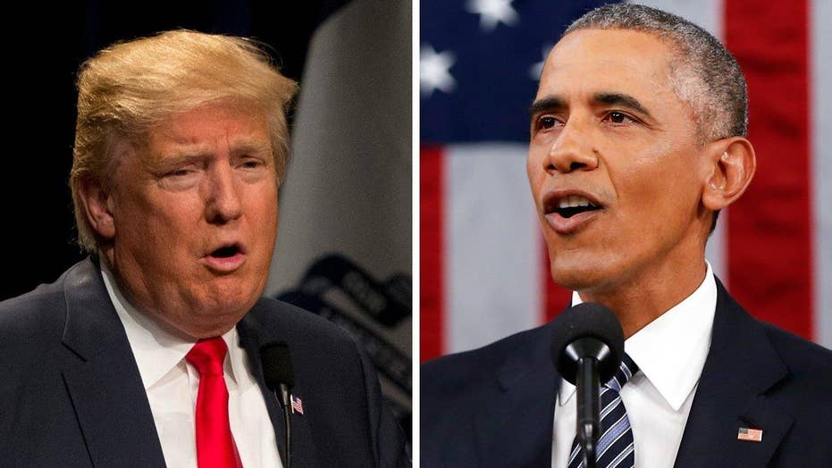 Donald Trump reacts to Obama's State of the Union jab