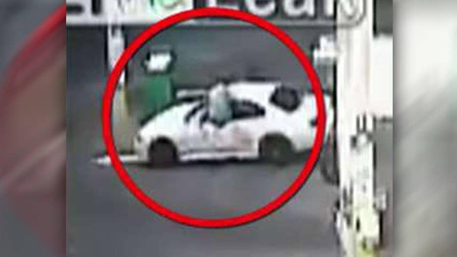 Owner uses ninja-like moves to stop car thief