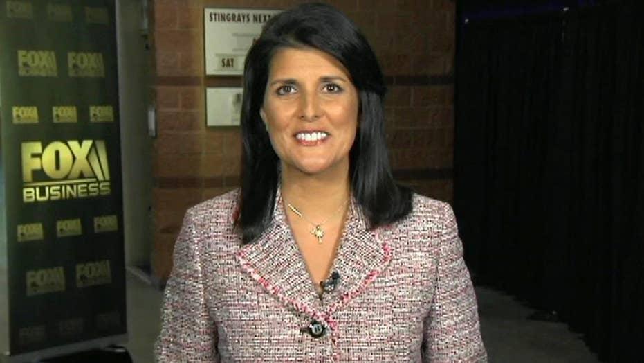 Gov. Nikki Haley addresses her swipe at Trump