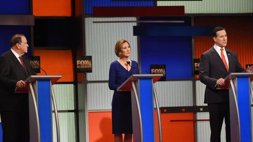 Fiorina, Santorum and Huckabee spar in South Carolina