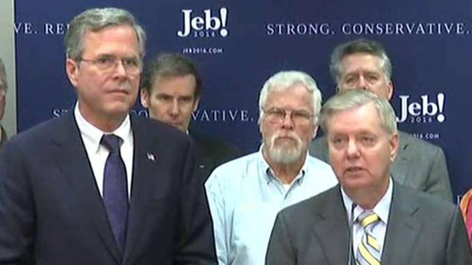 Lindsey Graham endorses Jeb Bush for president