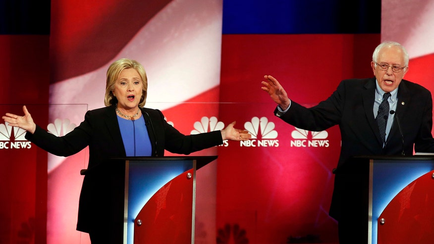 Hillary Clinton and Bernie Sanders spar in final democratic debate before primaries begin