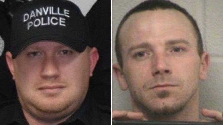 Herschel Ray Jones III is suspected of killing Danville Officer Thomas Cottrell