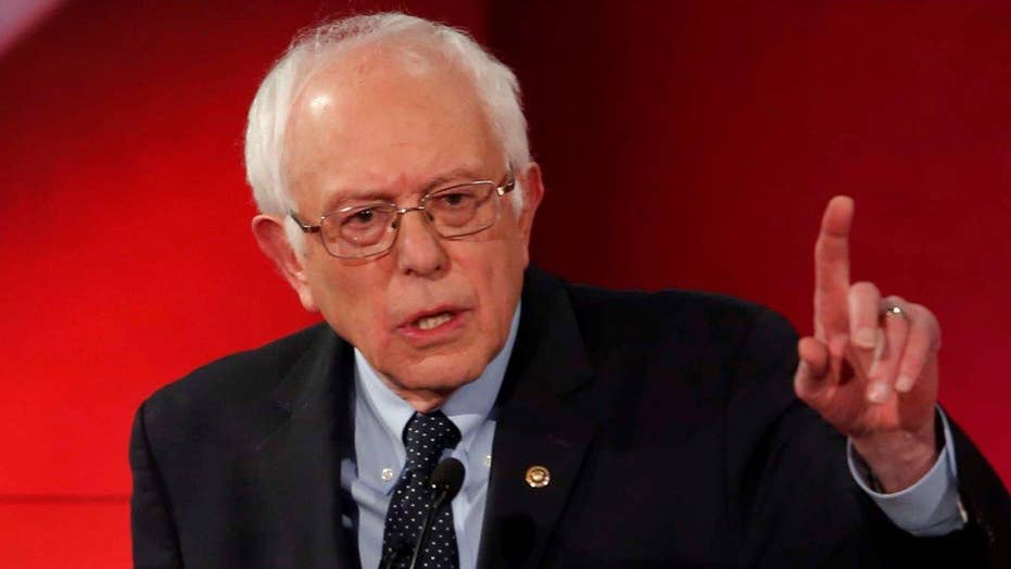 Bernie Sanders takes aim at the media