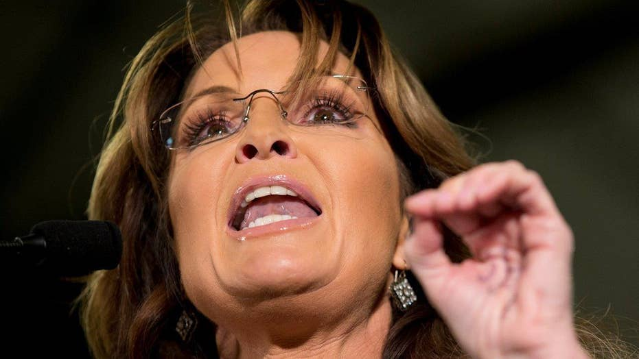 Sarah Palin comes to son's defense at Trump campaign event
