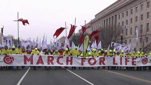 Pro-life advocates brave harsh forecast for March for Life