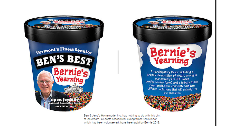 Foxnews.com: Ben and Jerry's co-founder came up with an unofficial flavor for Vermont Sen. Bernie Sanders