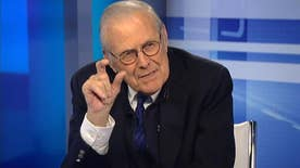 Former defense secretary Donald Rumsfeld goes 'On the Record' on which 2016 presidential candidate he believes will keep America safe, what voters should consider, and his new app, Churchill solitaire