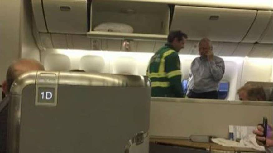 A Los Angeles-bound flight was forced to return to London after six people fell ill