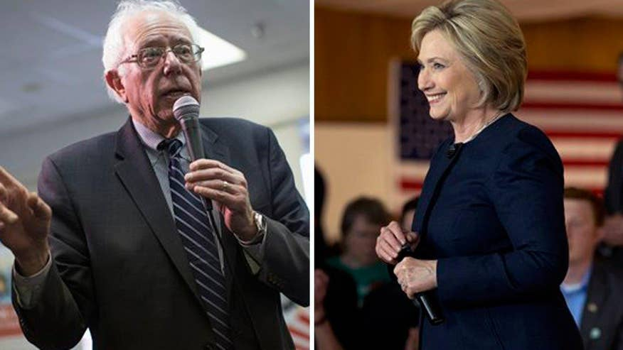 Sanders is taking aim at Clinton as he is starting to look like the frontrunner; Ed Henry provides insight on 'Special Report'