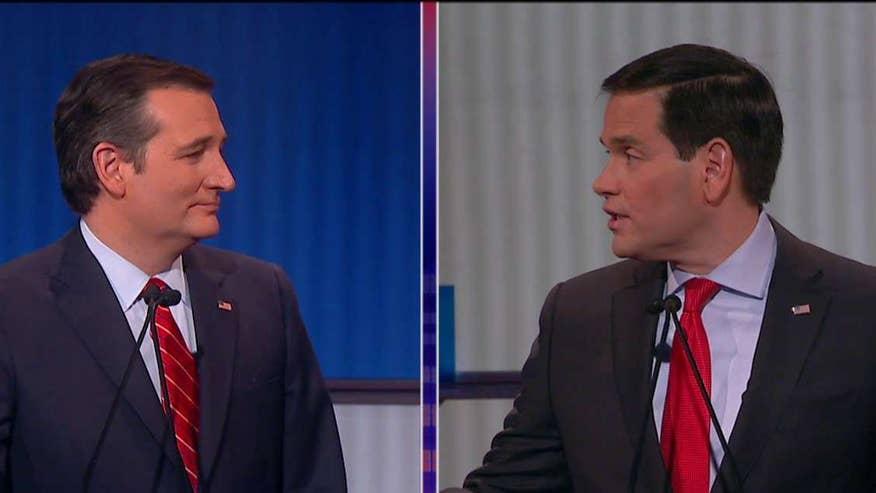 Republican presidential candidates spar at the 7th GOP debate in Des Moines, Iowa