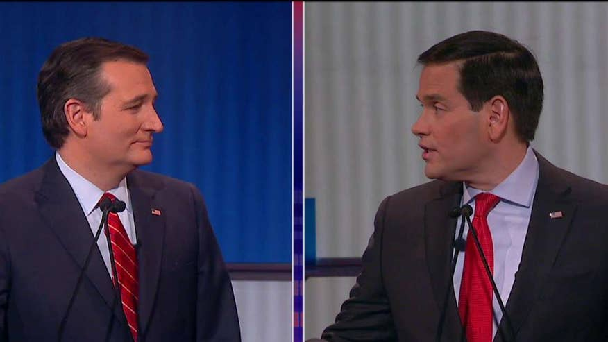 Republican presidential candidates spar at the 7th GOP debate in Des Moines, Iowa