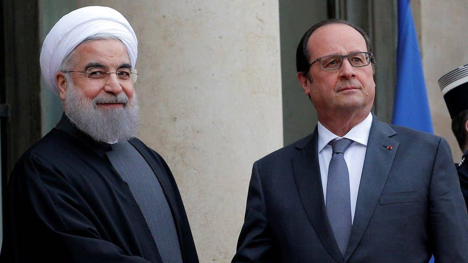 Iranian president visits France during historic trip