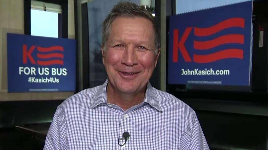 Ohio governor highlighting his record ahead of voting in early states