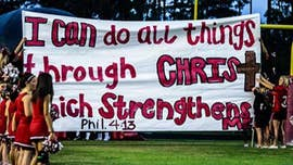 For the past six years a Texas school district has been waging legal warfare against a group of high school cheerleaders who wrote Bible verses on football run-through banners.