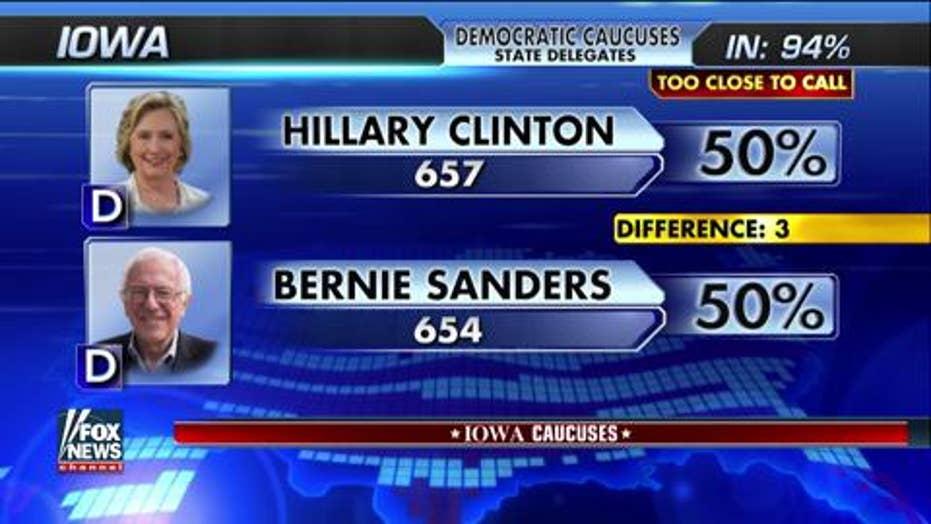 Fox News declares Iowa Democratic race too close to call