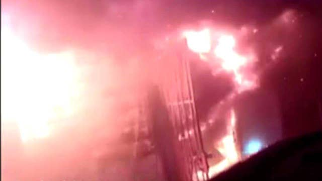 Helmet-cam captures dramatic fight against house fire
