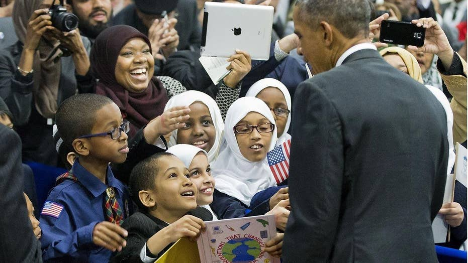 POTUS visits mosque with controversial past
